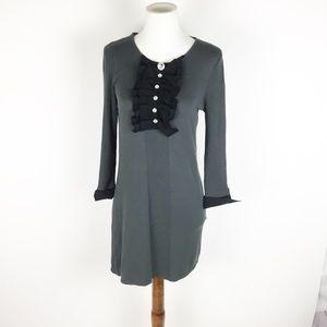 Twelve by Twelve gray tunic knit tuxedo dress